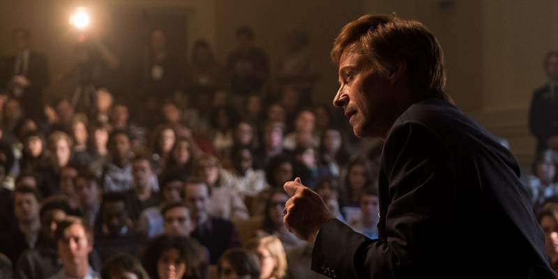 Hugh Jackman as Senator Gary Hart in Jason Reitman's The Front Runner.