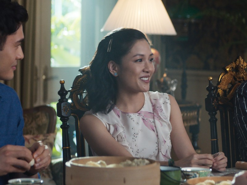 "(L-R) HENRY GOLDING as Nick, CONSTANCE WU as Rachel and NICO SANTOS as Oliver in Warner Bros. Pictures' and SK Global Entertainment's and Starlight Culture's contemporary romantic comedy ""CRAZY RICH ASIANS,"" a Warner Bros. Pictures release."