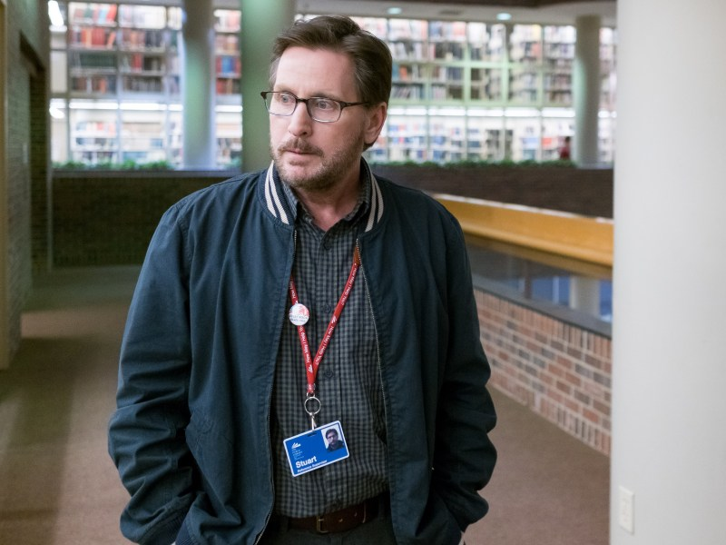 Emilio Estevez as Stuart Gibson in The Public.