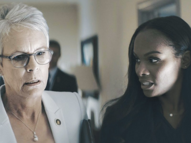 "Jamie Lee Curtis as ""Rachel Burke"" and Tika Sumpter as ""Elizabeth Lamb"" in Joe Chappelle's An Acceptable Loss."