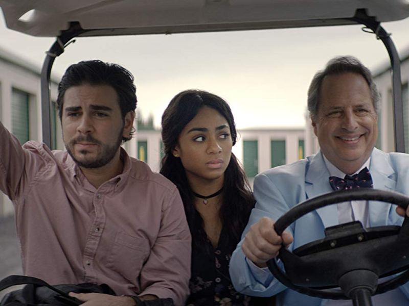 Grant Rosenmeyer, Chelsea Taveres, and Jon Lovitz in Chasing the Blues.