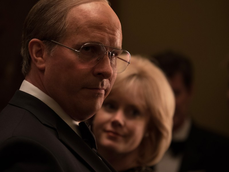 Christian Bale (left) stars as Dick Cheney and Amy Adams (right) stars as Lynne Cheney in Adam McKay's VICE, an Annapurna Pictures release.