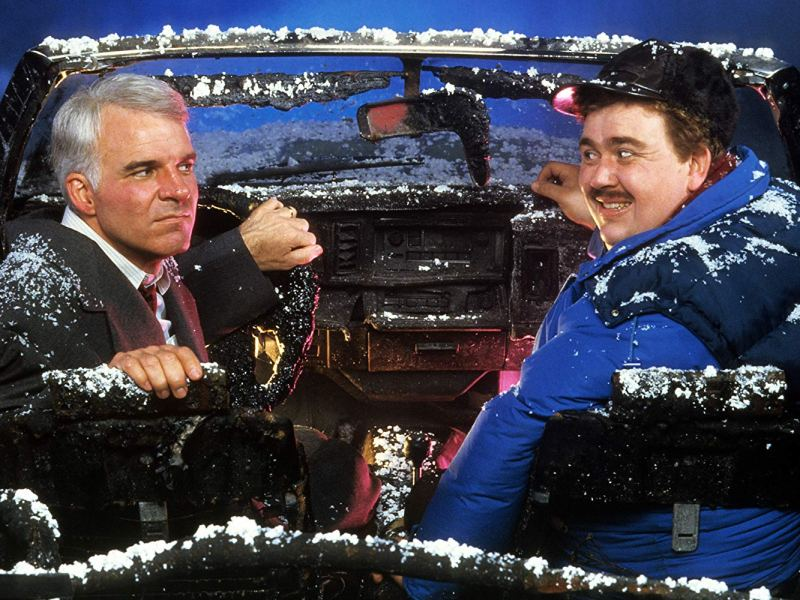 Steve Martin and John Candy in Planes, Trains & Automobiles (1987).