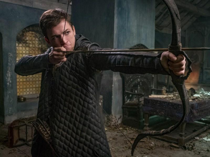 Taron Egerton stars as 'Robin' in Robin Hood.