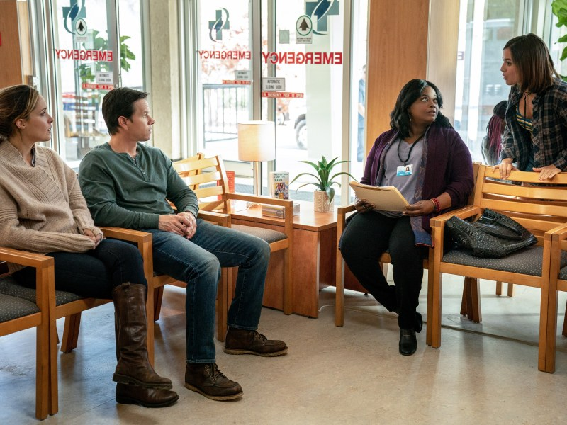 Rose Byrne, Mark Wahlberg, Octavia Spencer and Isabela Moner in Instant Family from Paramount Pictures.