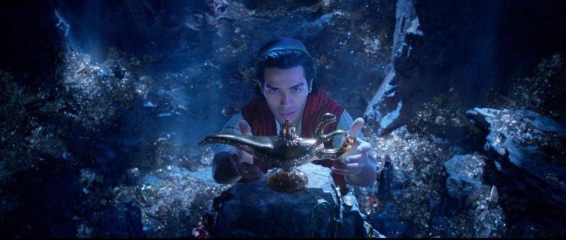 Mena Massoud as Aladdin in Disney's Aladdin.