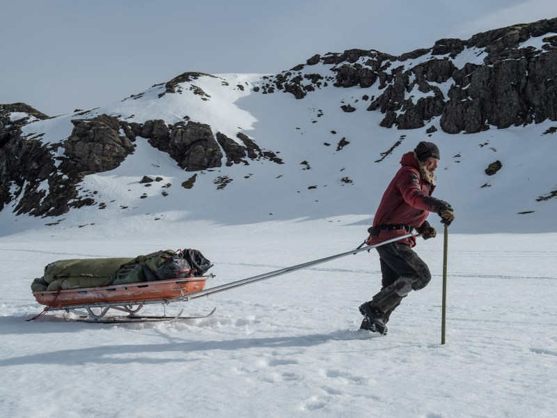Mads Mikkelsen stars as Overgård in Arctic, a Bleecker Street release.
