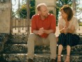 Matt Walsh as Stuart and Judith Godrèche as Louise in the romantic comedy Under the Eiffel Tower.