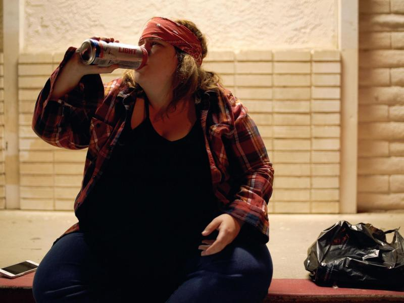 Anna T Schlegel as Jodie as Axl Rose in Pig Hag.