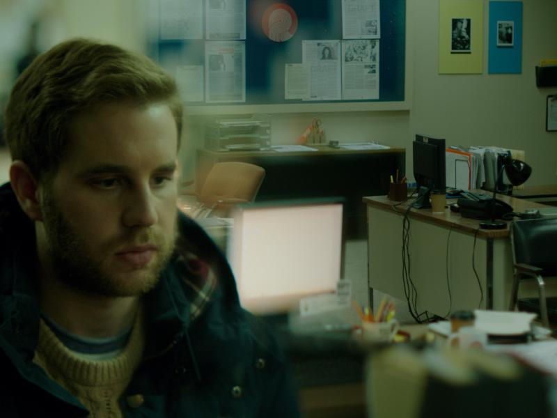 Ben Platt as Bram Shriver in Run This Town