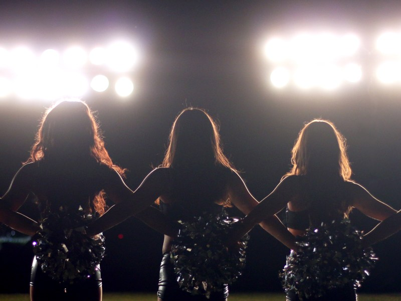 A still from A Woman's Work: The NFL's Cheerleader Problem.