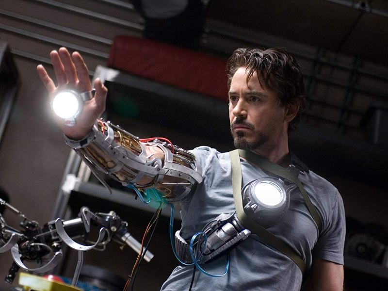 Robert Downey Jr. in Iron Man.