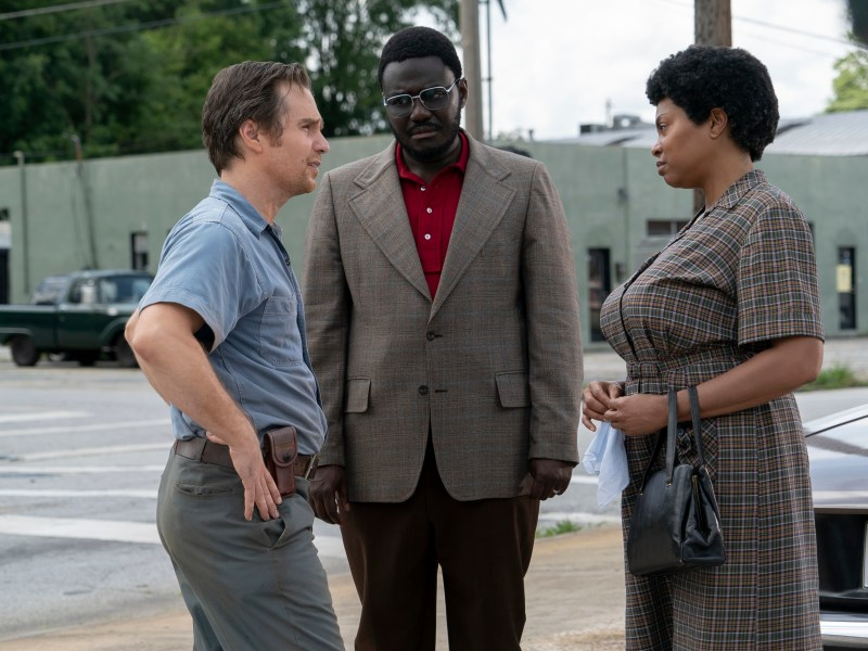 Sam Rockwell, Babou Ceesay and Taraji P. Henson star in The Best of Enemies