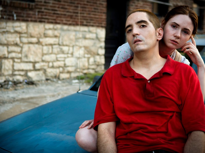 Gensan (David Dastmalchian) and Ruby (Karen Gillan) in All Creatures Here Below.
