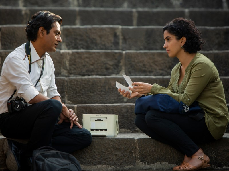 Rafi (Nawazuddin Siddiqui) and Miloni (Sanya Malhotra) in PHOTOGRAPH, an Amazon Studios release.