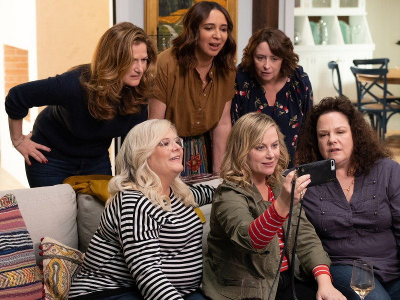 Wine Country. Back Row: Ana Gasteyer, Maya Rudolph, Rachel Dratch. Front Row: Paula Pell, Amy Poehler, Emily Spivey.