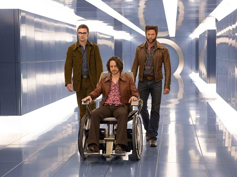 Nicholas Hoult, James McAvoy, and Hugh Jackman in 20th Century Fox's X-Men: Days of Future Past.