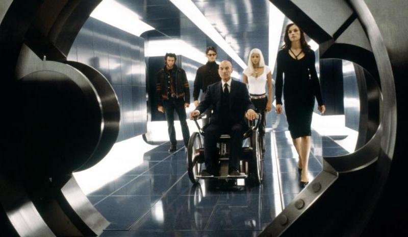 Wolverine, Cyclops, Storm, Jean Grey and Professor X in Twentieth Century Fox's X-Men.