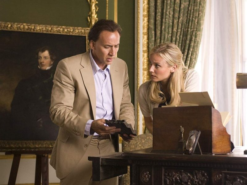 Benjamin Gates (Nicholas Cage) and Abigail Chase (Diane Kruger) in National Treasure: Book of Secrets