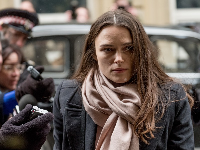 Keira Knightley as Katharine Gun in Official Secrets.
