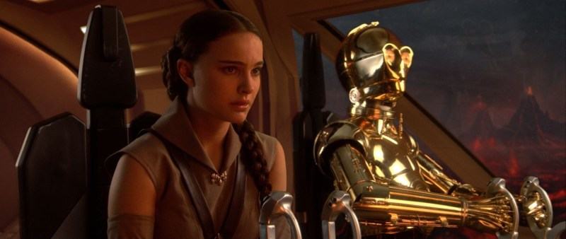 Natalie Portman and Anthony Daniels in Star Wars: Revenge of the Sith