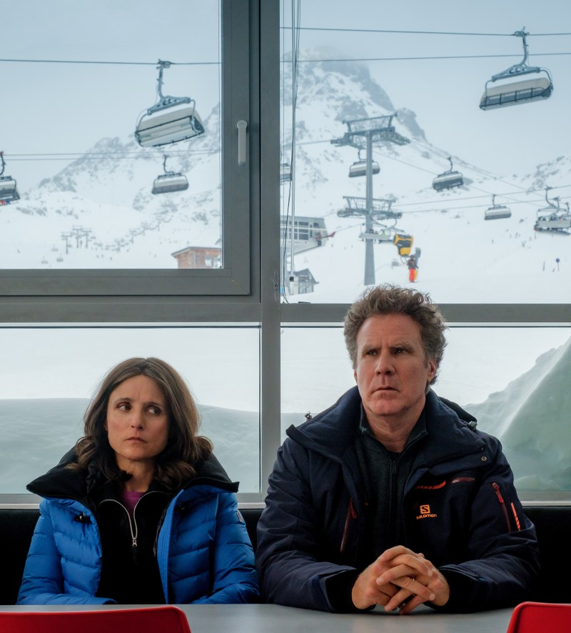 Julia Louis-Dreyfus and Will Ferrell in the film Downhill.