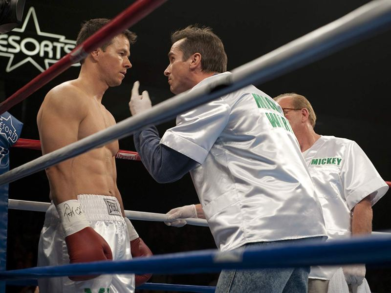 Mark Wahlberg and Christian Bale in The Fighter.