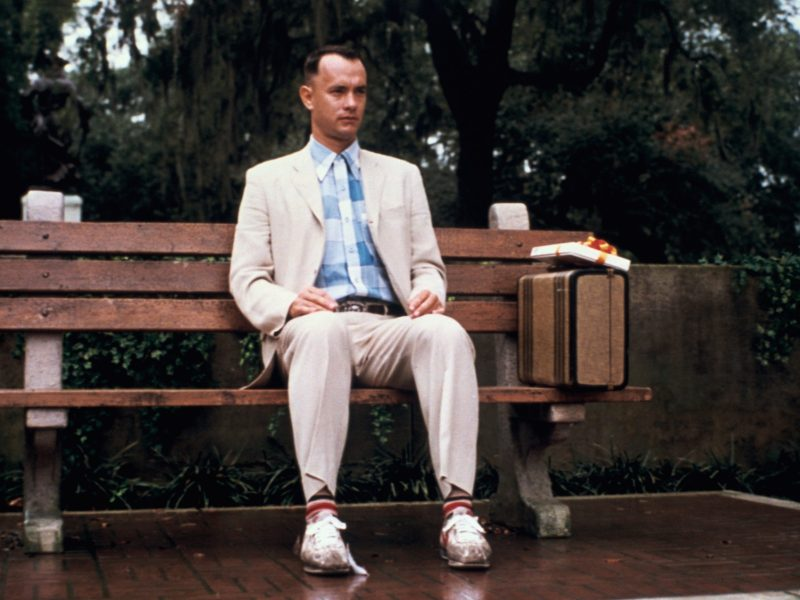Tom Hanks in Forrest Gump.
