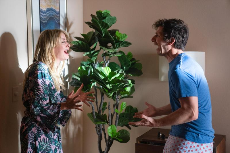 Meredith Hagner and Andy Samberg in Palm Springs.