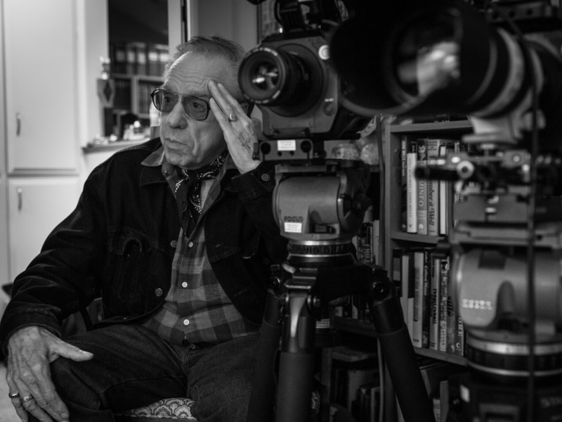 Peter Bogdanovich on the set of The Great Buster.