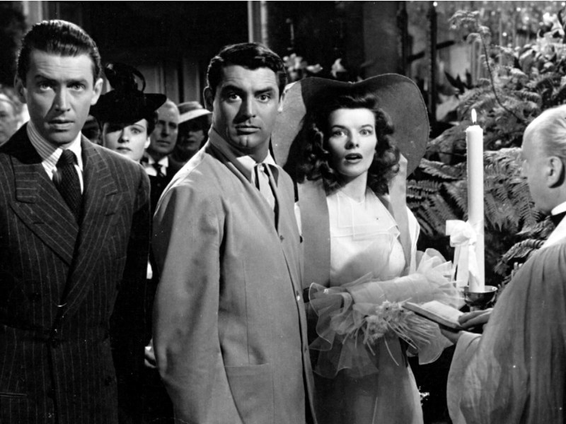 James Stewart, Cary Grant, and Katharine Hepburn in The Philadelphia Story