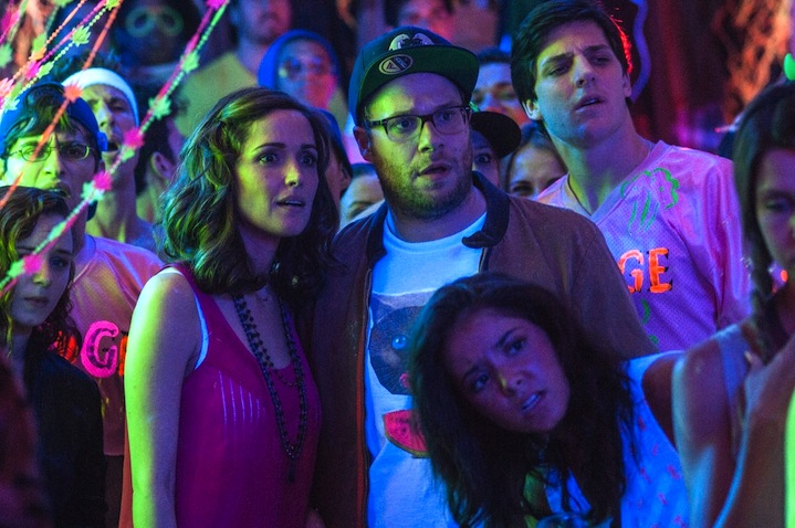 Rose Byrne and Seth Rogen in Neighbors.