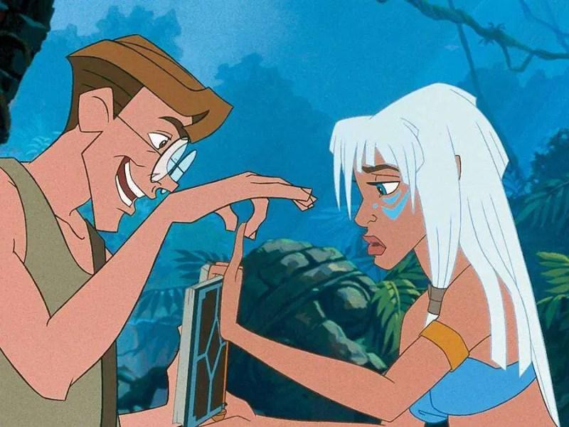 Milo Thatch and Princess Kida in Atlantis: The Lost Empire.
