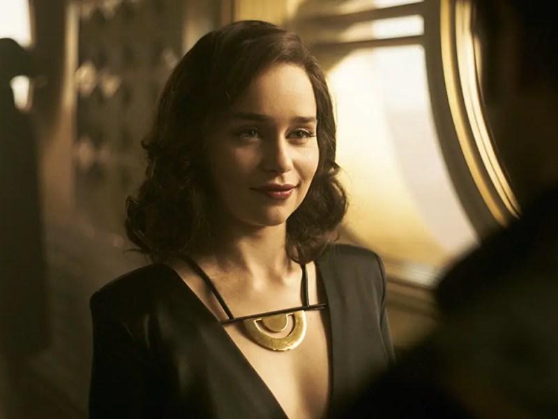 Emilia Clarke as Qi'ra in Solo: A Star Wars Story.