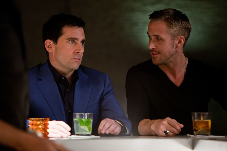 Steve Carell and Ryan Gosling in Crazy Stupid Love.