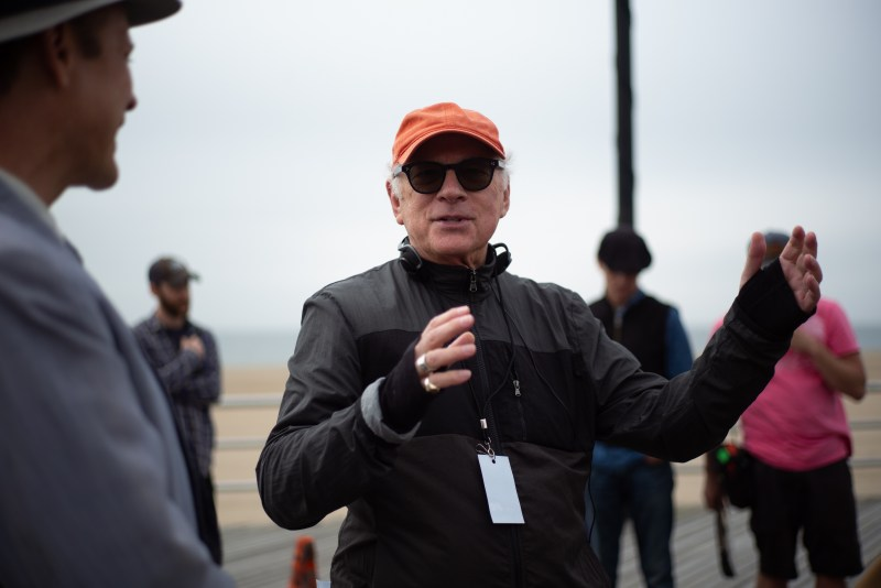 Barry Levinson on the set of The Survivor