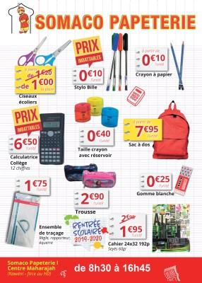 Catalogue de la papeterie Somaco pour la rentrée scolaire 2019