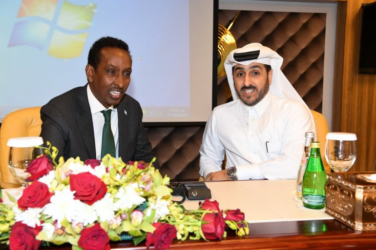 Somali Foreign Minister Ahmed Isse Awad at a seminar held at the Ministry of Foreign Affairs.