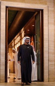 As de facto ruler of the United Arab Emirates, Prince Mohammed bin Zayed controls the Arab world's biggest sovereign wealth funds and its most potent military. CreditCreditPool photo by Andrew Caballero-Reynolds