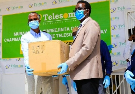 Telesom Largesse benefits the Somaliland Ministry of Health with Assorted Covid-19 Kits Worth US$640,000