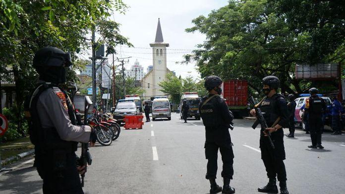 Suicide Bomb Attack In Makassar, Indonesia