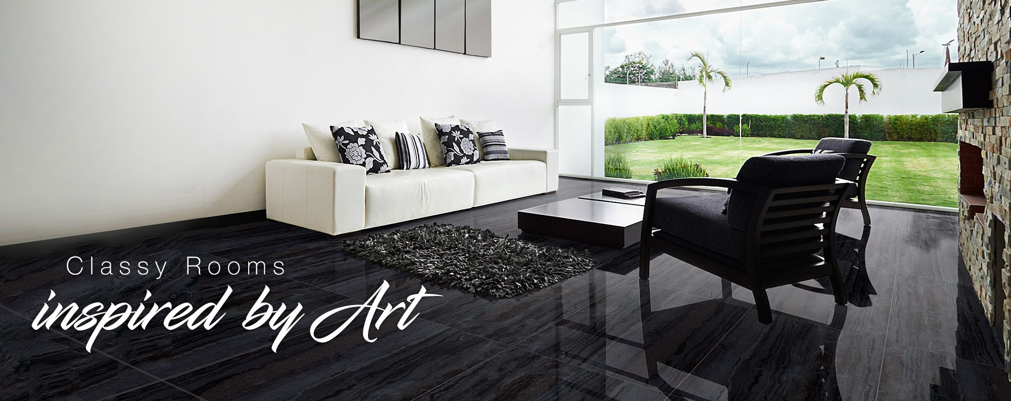 Collection of Wall Tiles and Floor Tiles for Living Room