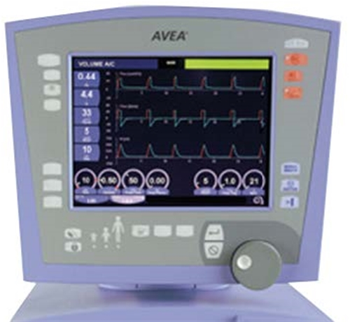 Vyaire Carefusion Avea Ventilator Featuring Volumetric