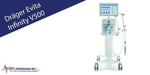 Drager Evita Infinity V500 Ventilator - Soma Technology, Inc
