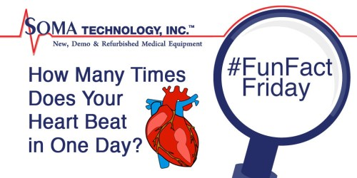 Fun Fact Friday - How Many Times Does Your Heart Beat in One Day - Soma technology, Inc.