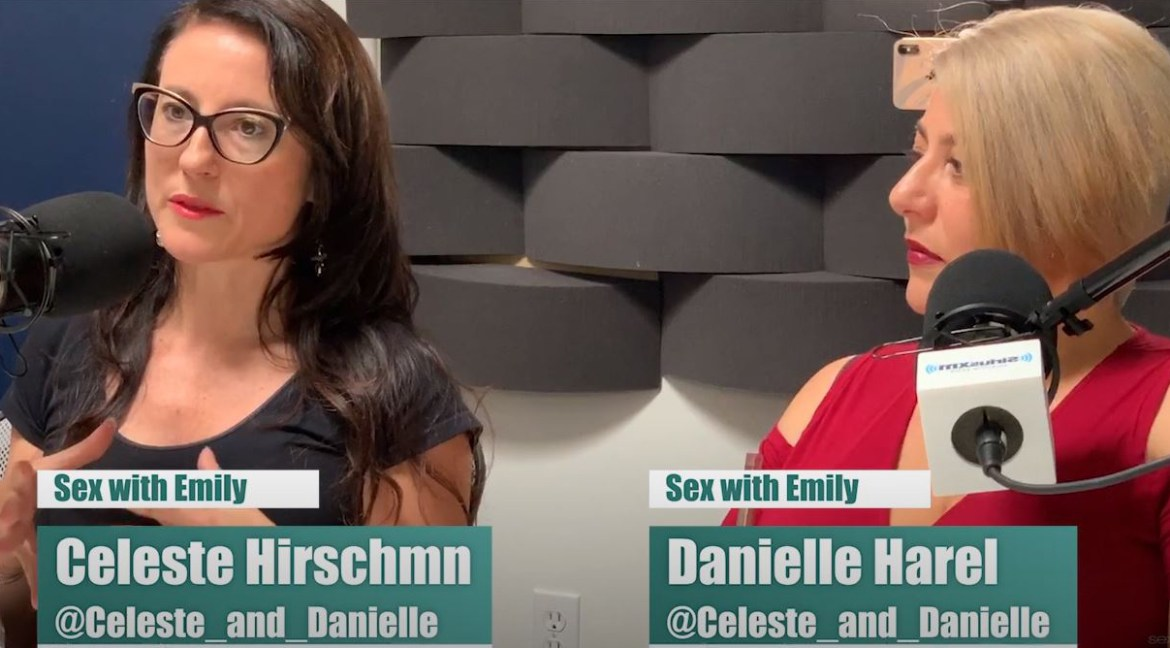 Celeste and Danielle on the Sex with Emily Podcast