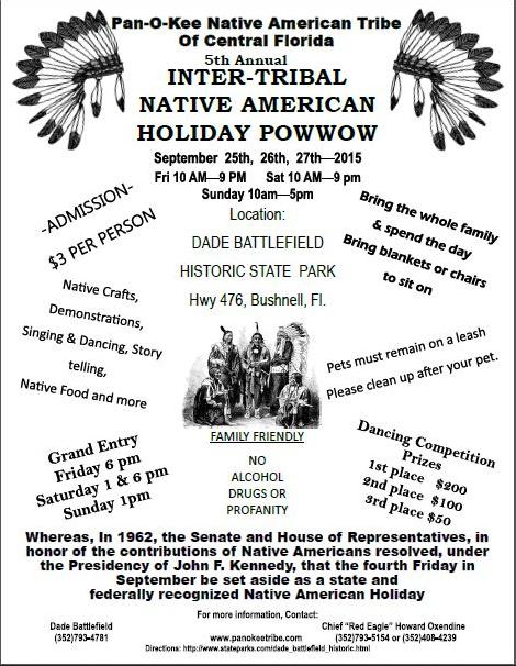 Onacs To Co Sponsor Panokee Cherokee Powwow Native American