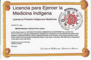 Borekin Tribal Medical License Dr. James