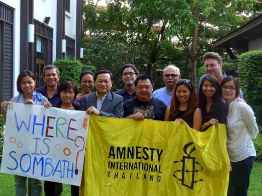 Amnesty staff in Thailand are asking...