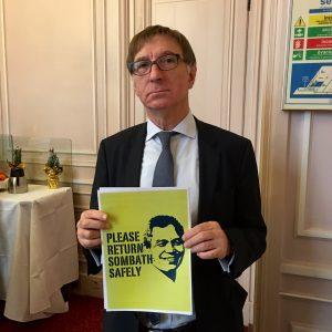 Senator Bernard Fournier (Sénateur républicain de la Loire, France), membre de la Commission des affaires étrangères et de la Défense is asking...
